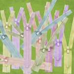 Pastel Color Zippers - Open and Closed