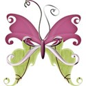 A sButterfly-paper green_purple