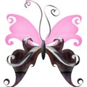 A s butterfly pinkCupcake