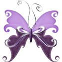 A s butterfly Purple
