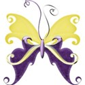 A s butterfly purpleANDyellow