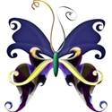 A s butterfly purpleTulipANDblue