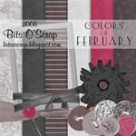 Colors of February Scrap Kit