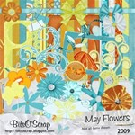 May Flowers Scrap Kit