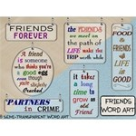 Friends Word Art