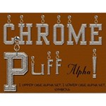 Chrome Puff Alphabet