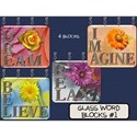Glass Word Blocks #1