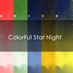 Colorful Star NIght Background