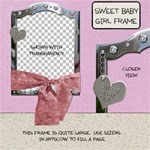 Sweet Baby Girl Frame