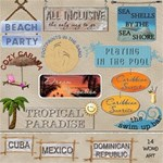 Tropical Vacation Word Art