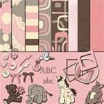 baby girl 2 w/ complete alphabet