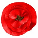 grateful flower pin red