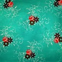 grateful floral swirls teal