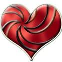 spiral heart red121