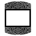 large scroll frame black