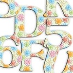 Flower Background Alphabets