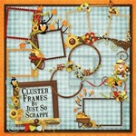 Happy Fall Y all Cluster Frames
