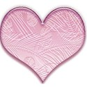 Heart palm leav pink lt2