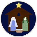 nativity in circle