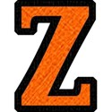 Orange on Black SMALL z