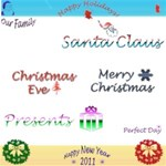 Xmas & New Year sayings and shapes