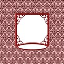 Red Damask Ornament