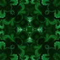 hunter green damask emb