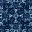 deep blue damask