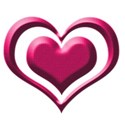 pink heart button