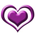 purple heart button