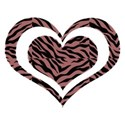 red zebra heart