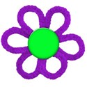 cloth-flower purple