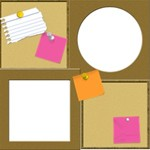 Push Pins, Post-Its & Cork Board