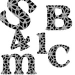 Lace Background Alphabets