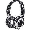 Glitter Headphones with Shadow