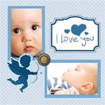 I love You ( Blue color )