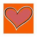 Dark Orange Heart Frame 7