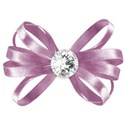 pink ribbon bow diamond half