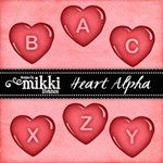 Heart Shaped Alphabet