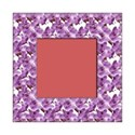 square purple orchid frame