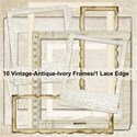 Vintage Antique Ivory Frames & Lace Edge Kit