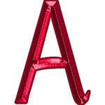 Shiny Red Alphabet