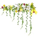 apple blossom branch dangles yellow red 02