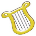 Gold Harp Sticker