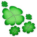 lucky clovers sticker