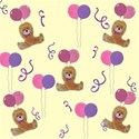 Lemon and pink party bear background