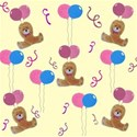 Pink and blue party bear background