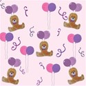 Purple party bear background
