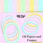 Oil papers and frames
