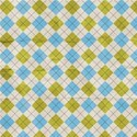 Paper Argyle Plaid Blue